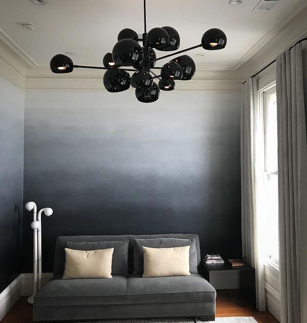 Black Accent Wall Decor:  Black To White Ombre Wall By Caroline Lizarraga At Private