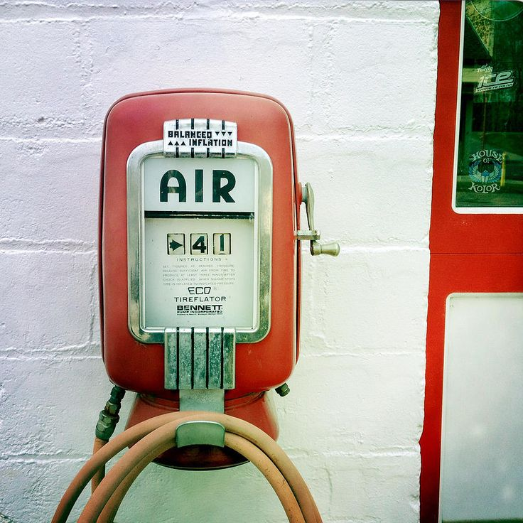 Vintage Gas Station Air Pump Photograph by Lori Knisely