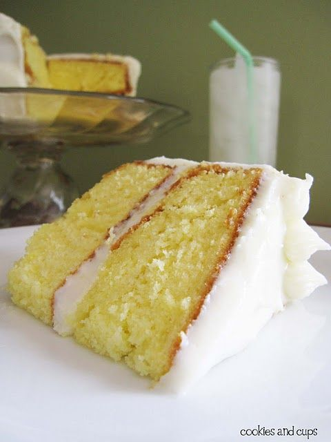 Lemonade Cake with Lemon Cream Cheese Frosting - I want a piece right now!  :)