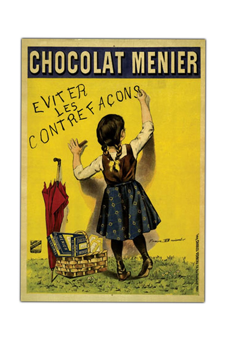 Chocolate Menier Framed Canvas Art