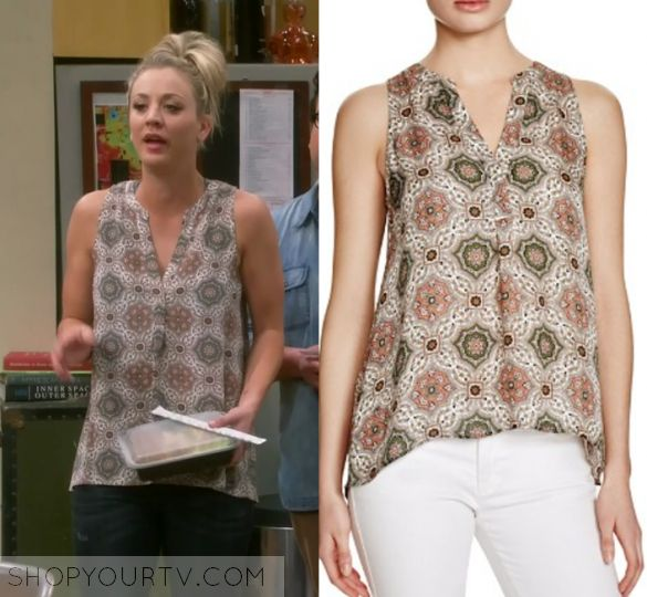 """The Big Bang Theory: Season 10 Episode 24 Penny's Printed Blouse 