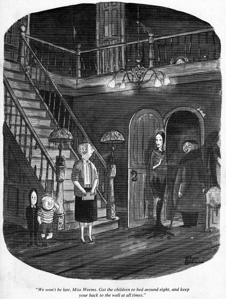 the original addams family, by charles addams [1912-1988]