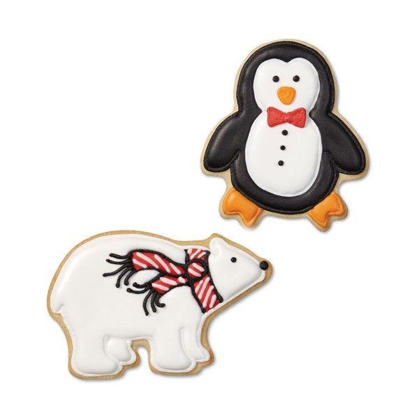 Wilton vianočné kovové vykrajovačky - tučniak, medveď, vianočná guľa sada 3ks