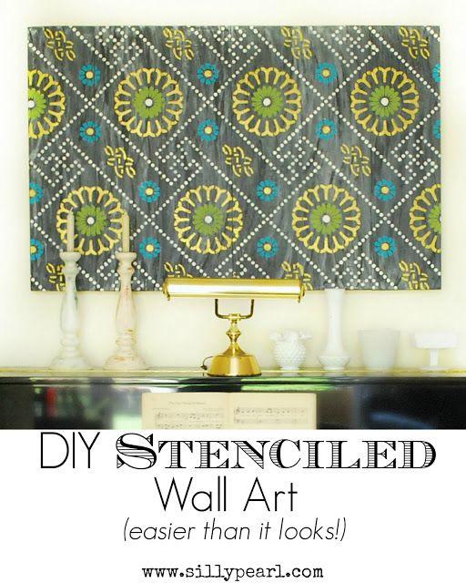 DIY Stenciled Wall Art with Royal Design Studio