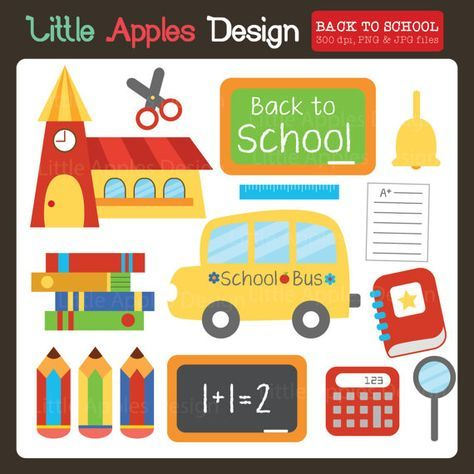 Back To School ClipArt / Back To School Clip Art / School ClipArt / School Bus…