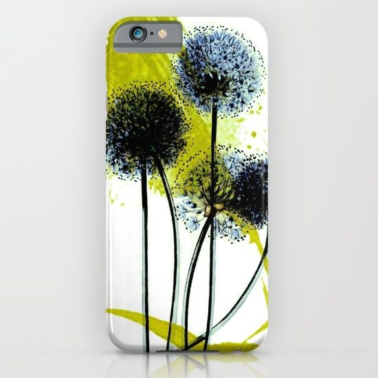blue dandelion on abstract background iPhone & iPod Case