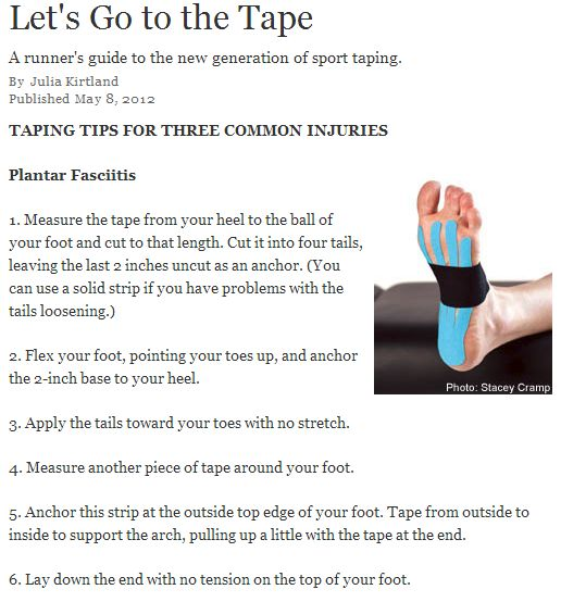 Kinesio taping for Plantar Fasciitis