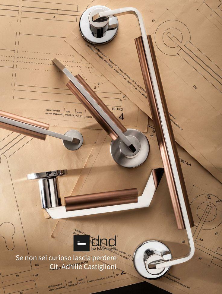 C-1918 handle & pull handle design Achille Castiglioni - Gianfranco Cavaglià 2014 #door #handle #achillecastiglioni #dnd