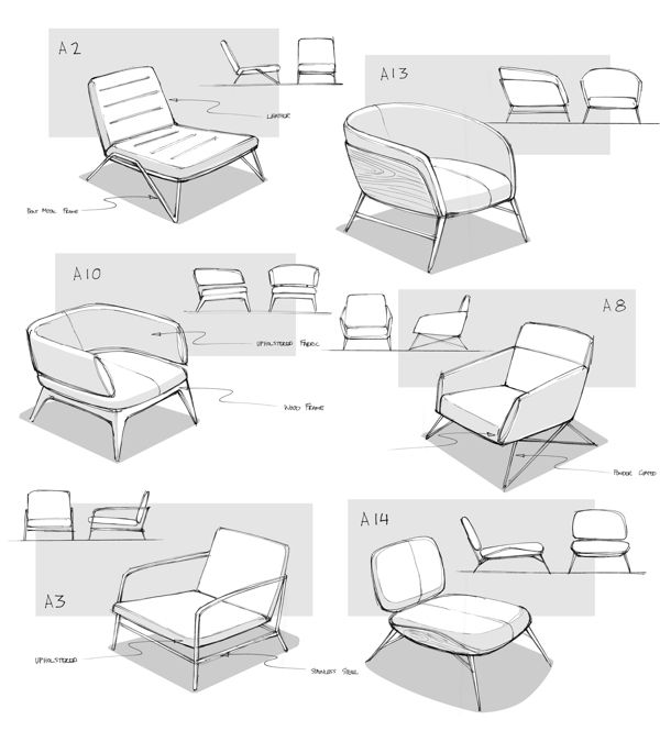 Lounge Chair by Matthew Choto, via Behance #industrial #design #id #product #sketch