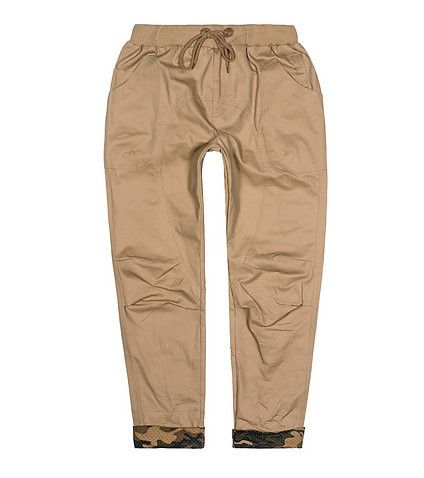 AMERICAN+STITCH+Twill+chino+pants+Elastic+waistband+Adjustable+drawstring+closure+Two+front+pockets+Camouflage+panel+cuffs+on+bottom+Durable+material+for+ultimate+performance