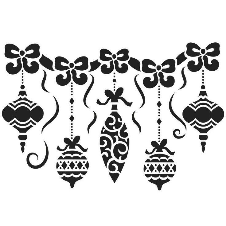 Hochwertige Laser-Kunststoff-Schablone zur Gestaltung von Fenstern, Textilien und anderen Oberflächen, Din A4. Motiv: Weihnachtskugeln Anleitung zur Fenstergestaltung mit Sprühfarbe : - Fixieren Sie die Schablone an gewünschter...