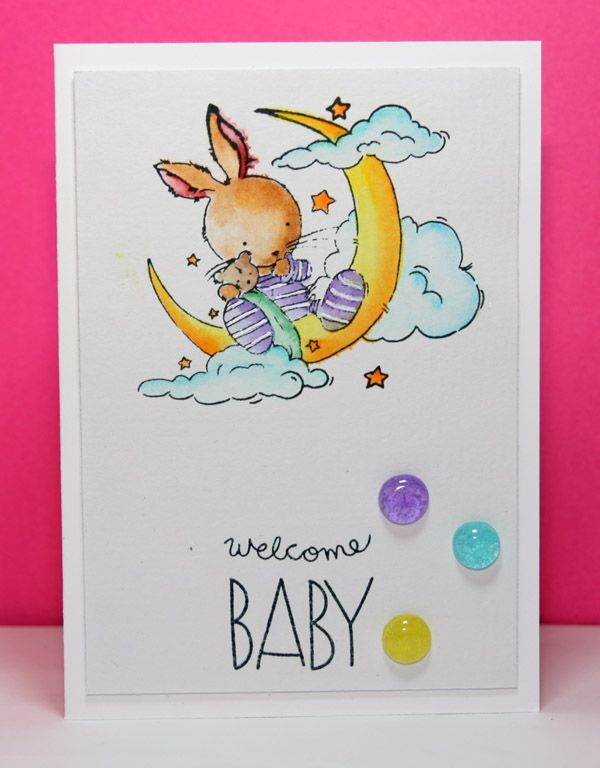 Simon says stamp exclusives: baby party animals for the sentiment and image is from Lili of the Valley  #simonsaysstamp