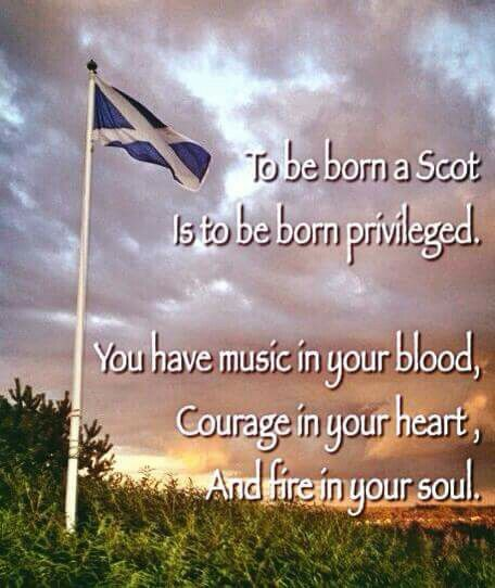 to be born a scot