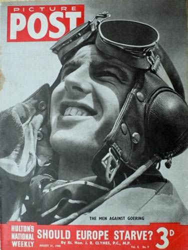 P/O Keith R Gillman of No 32 Squadron RAF was the subject of a PICTURE POST magazine cover, published a week after his loss over the Channel on 25 August 1940. Photographed at RAF Hawkinge on 29 July, the 19-year-old pilot was postred in on 10 May, flying his first operational sortie on 7 June. With an Me 109 claimed on 19 July, he failed to return from combat off Dover, being their first airman lost during the summer and autumn.