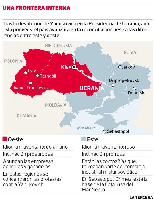 Designan a presidente interino de #Ucrania y surge fantasma de la partición  Alexandr Turchinov, un aliado de Yulia Timoshenko, tiene plazo hasta mañana para formar un gobierno de unidad nacional.