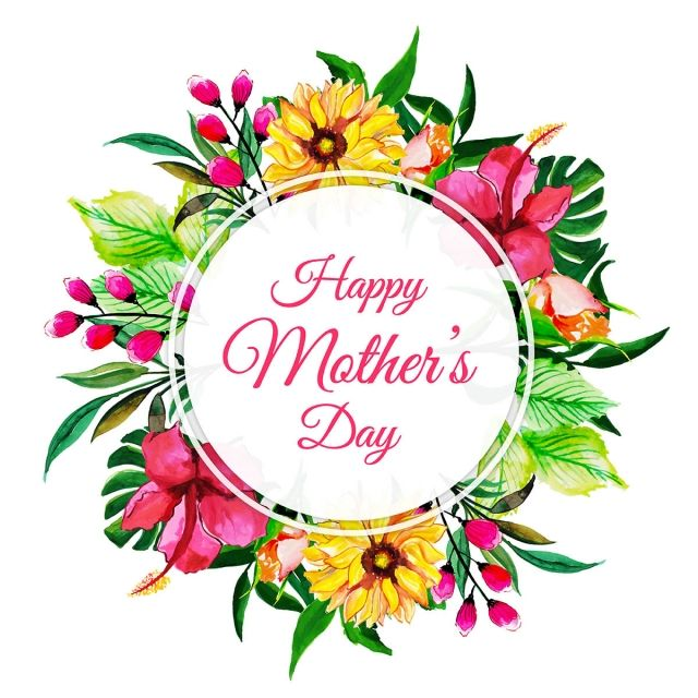 Watercolor Happy Mother S Day Floral Frame Background Watercolor Color Floral Png And Vector With Transparent Background For Free Download Happy Mothers Day Happy Mothers Day Wishes Happy Mother S Day Greetings