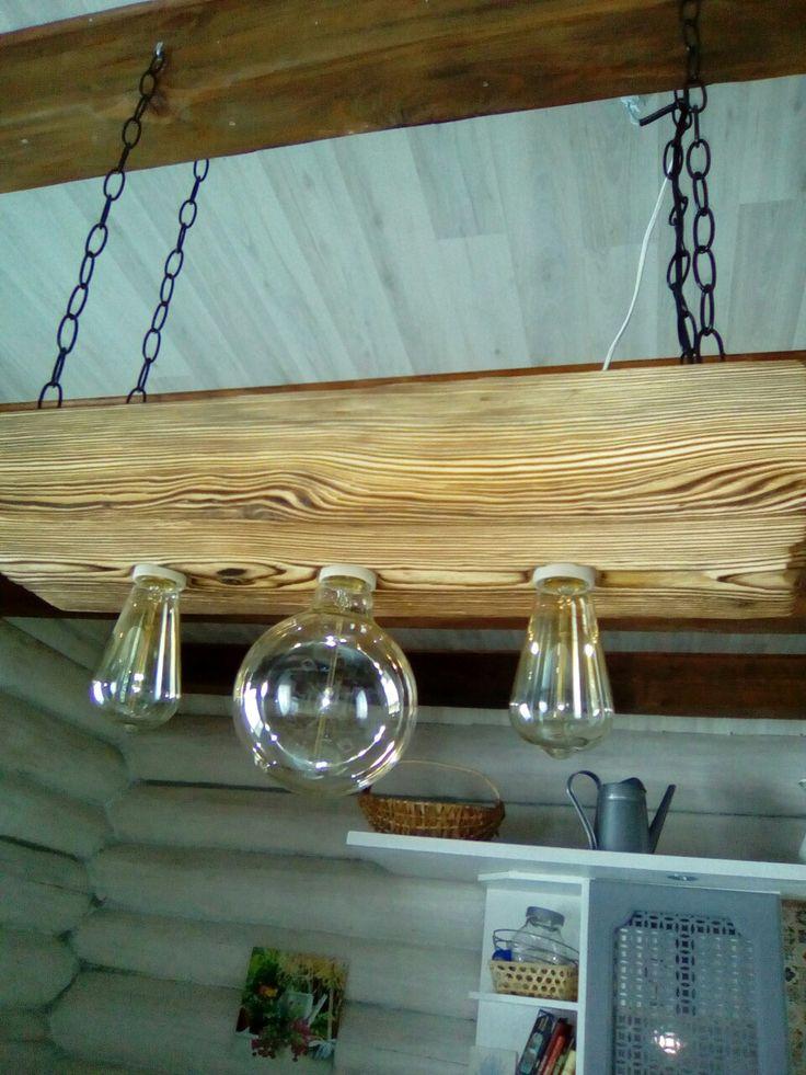 Со старинное дерево! Деревянная люстра(выс.100мм.,шир.200мм.,дл. 500мм.)  цена 3500рублей.