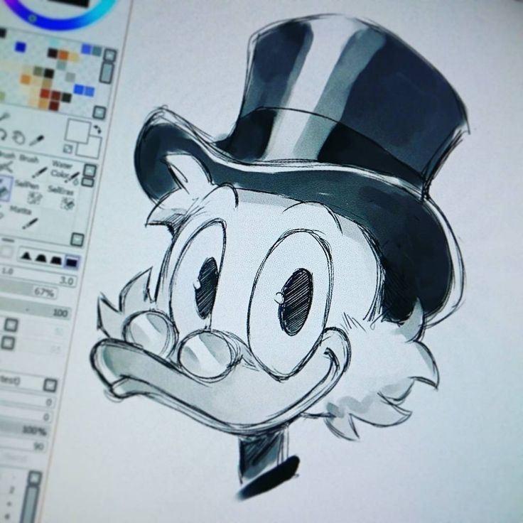 Uncle Scrooge by Andrea Cofrancesco