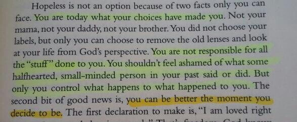 """""""You can be better the moment you decide to be."""" Advice from Randy Pausch."""
