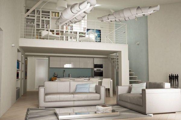 Chic and modern loft in Nice #luxuryapartment #design #chic #Nice