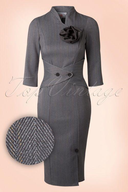 Miss Candyfloss Herringbone Pencil Dress 100 15 16940 20151130 0010W1