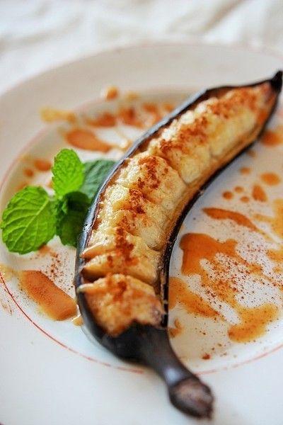 スパイス大使】甘くてトロトロ♪焼きバナナのきな粉シナモンソースがけ ...