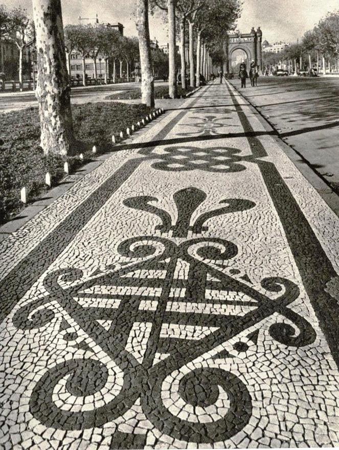 """Barcelona, 1950s, """"Arco del Triunfo"""""""