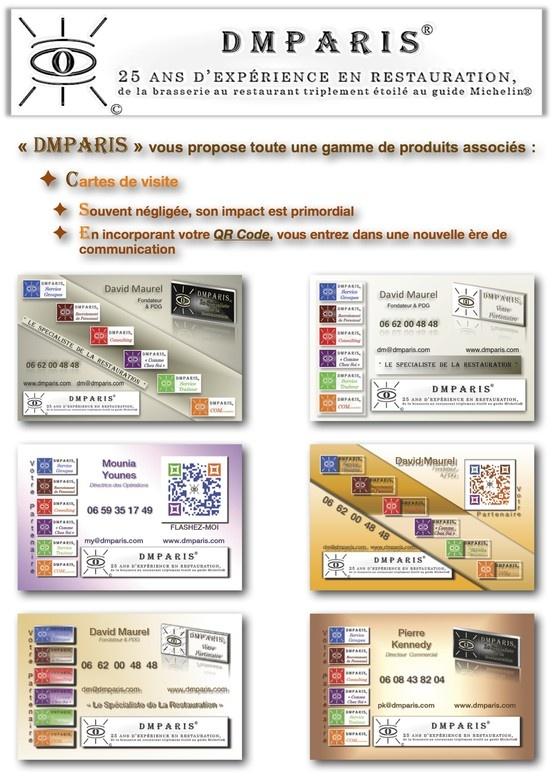 Création de cartes de Visite, Cartes de Correspondance avec QR Code