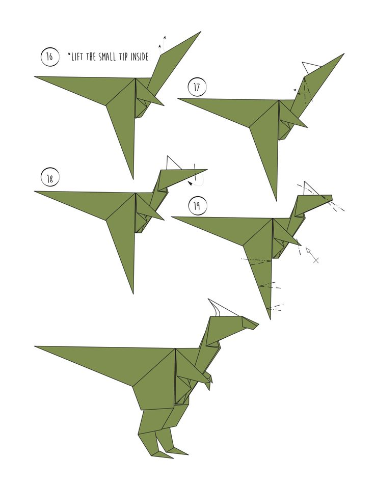 Rawr - Origami Dinosaur! And 2 More Ways to Make an ... - photo#17