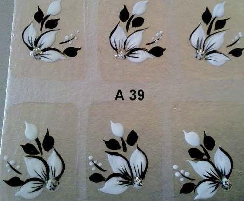 adesivos de unha artesanal 5 cartelas 10,00 frete 6,00