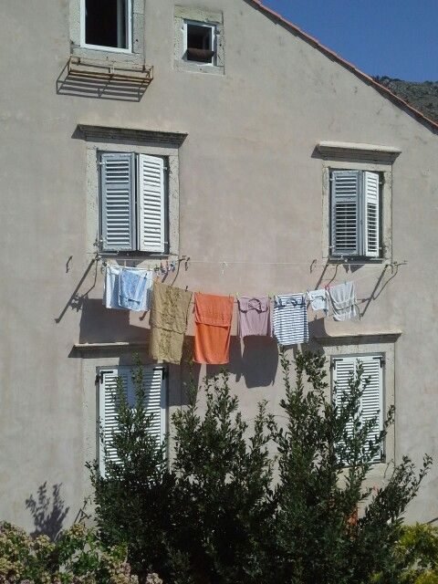 Laundry day in Dubrovnik Croatia by Pat Johnson