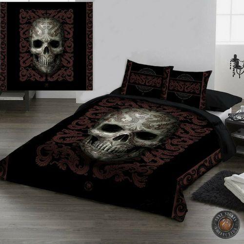 Regalos para padres heavys y rockeros Funda nórdica con calavera #calavera #skull #annestokes #goth #bedroom #dormitorio #xtremonline