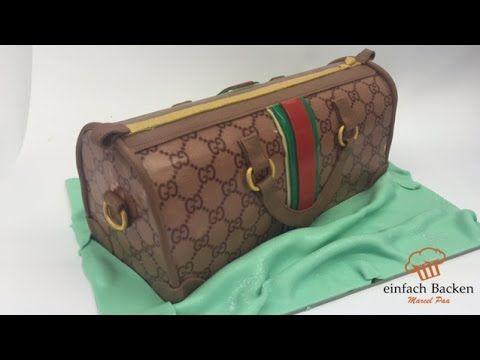 GUCCI Handtaschen Torte | 3D | Fondant Torten Anleitung - einfachBacken ...