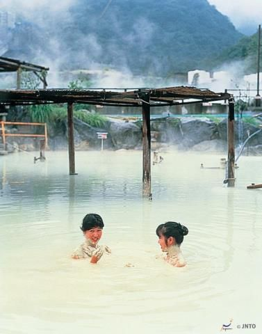 Experience mud bath in Beppu, Oita prefecture. Apart from this, Beppu offers 7 other hot springs