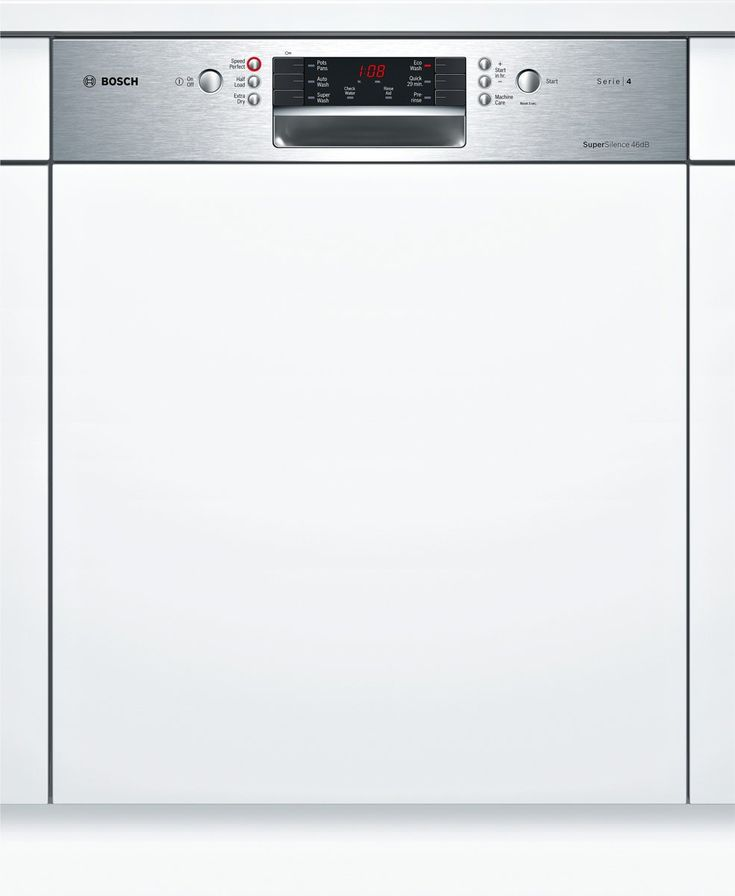 Bosch Smi46gs01a Serie 4 Semi Integrated Dishwasher Appliances Online Integrated Dishwasher Appliances Online Cleaning Dishes