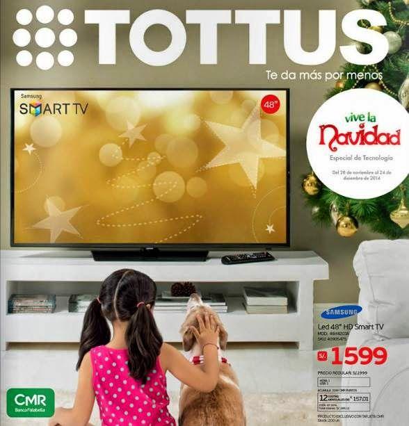 Catalogo con Ofertas de Electro por Navidad 2014 en Tottus