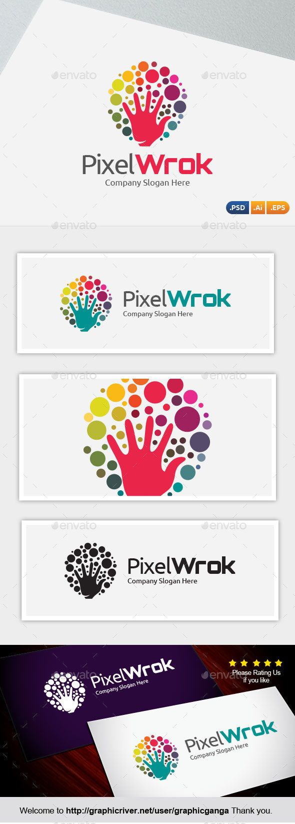 Pixel Work Logo Template PSD, Vector EPS, AI #logotype Download: http://graphicriver.net/item/pixel-work/14491431?ref=ksioks