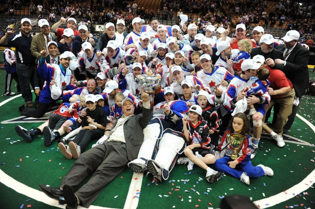 The Toronto Rock celebrate after defeating the Washington Stealth 8-7 to win the NLL championship at the ACC on May 15, 2011.    Great TEAM - great players & great coach. #highfive on winning #2011 Champion's Cup!