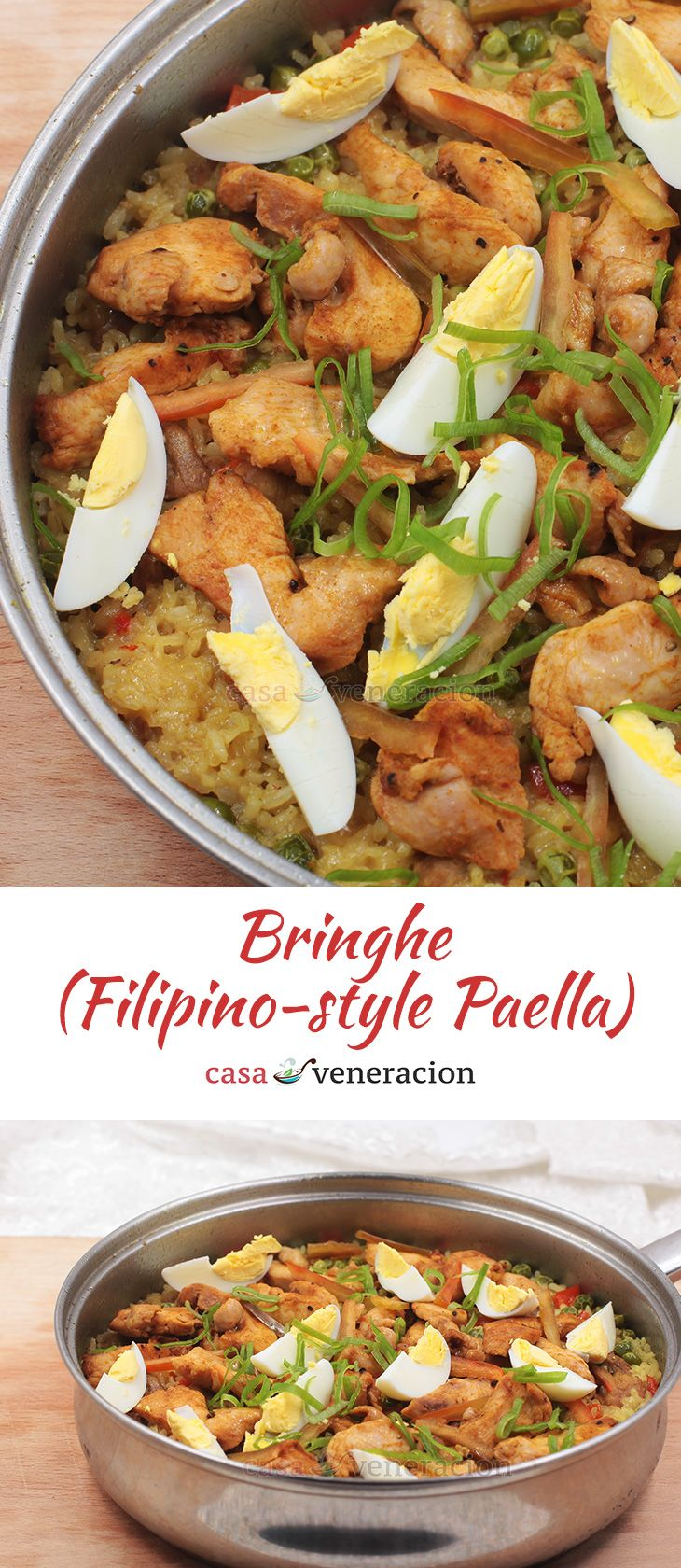 Central Luzon's answer to the Visayas' Arroz a la Valencia, bringhe is rice and meat (or seafood) cooked in coconut milk colored with turmeric. via @casaveneracion