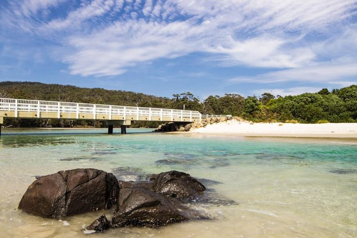 One of the southern most points in Australia for drivers, the bridge across into Cockle Creek is a scenic spot often framed by photographers. The mixture of water colours and clouds caught in this photo are beautifully captured. Image credit: Chris Bowles #hobartandbeyond #farsouth #discovertasmania