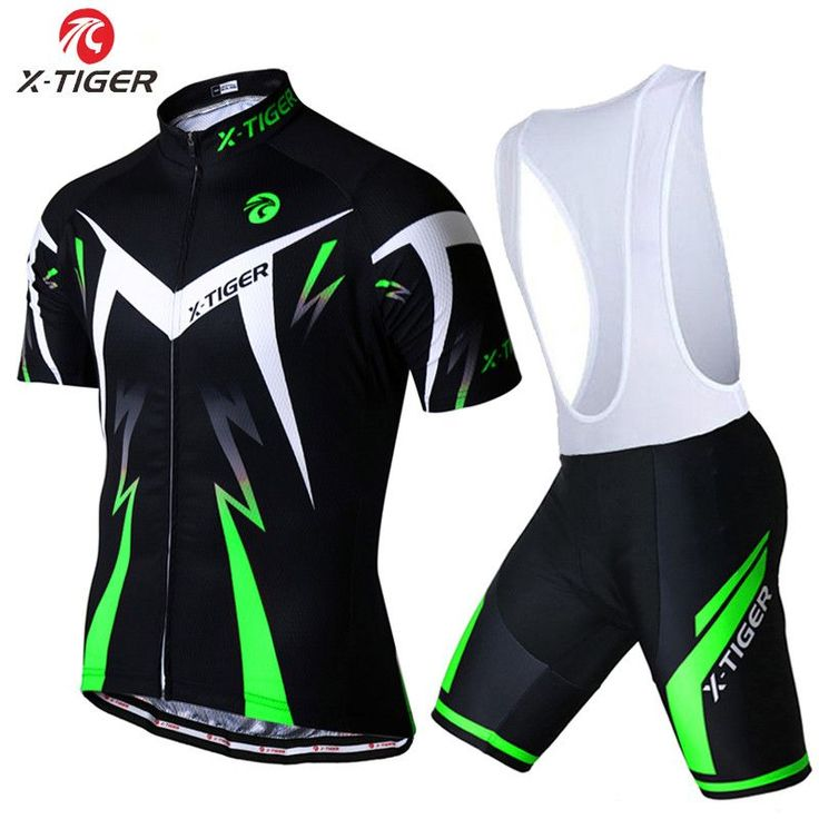 X-Tiger Brand Summer Cycling Set Summer Breathable Racing Bicycle Cloting With 100% Lycra Quick-Dry Bib GEL MTB Bike Pants
