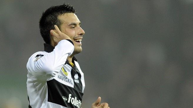 Nicola #Sansone (Parma FC)  Nicola Sansone of Parma FC celebrates scoring the first goal during the Italian Serie A match against FC Internazionale Milano