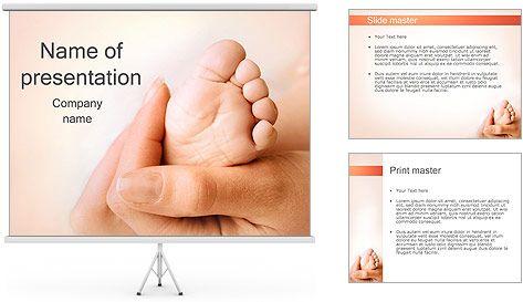 Pierna del bebé Plantillas de Presentaciones PowerPoint
