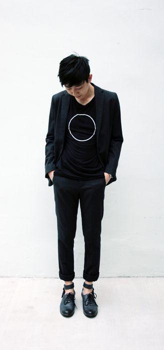 Jil  Seiko  Miharayasuhiro: Minimal Fashion Men, Fashion Victim, Dresses Well, Black White, Men Fashion, Circles Shirts, Cool Shirts, Male Fashion, Jil Seikomiharayasuhiro