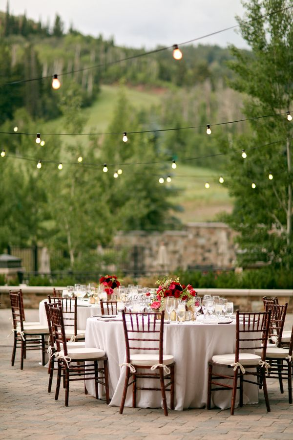 stunning outdoor reception with cafe lights pepper nix photography colorado wedding venuesdeer