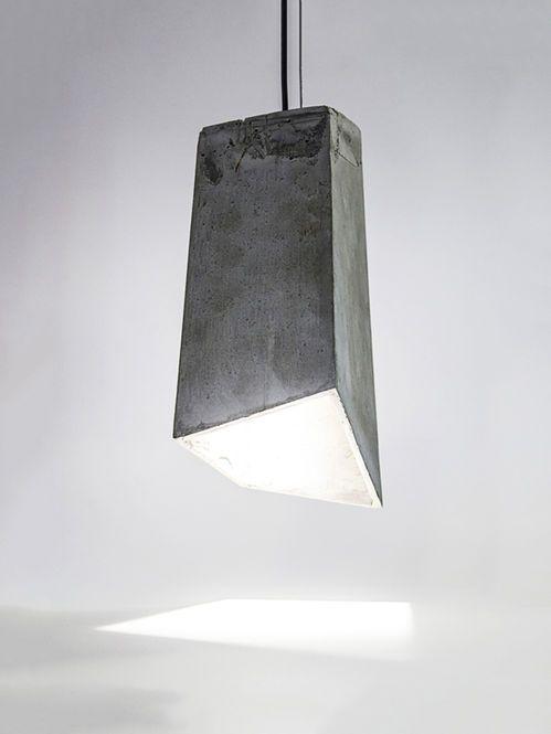 Luminária Pendente de Concreto! Designer: 20 Eight Design.