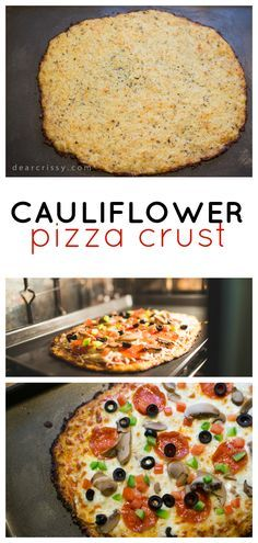 Cauliflower Pizza Crust Recipe - This delicious gluten-free cauliflower pizza crust recipe is easy to make and so much healthier than regular pizza dough.