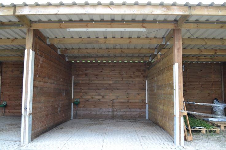 Plan hangar bois monopente nn59 humatraffin - Construction hangar bois ...