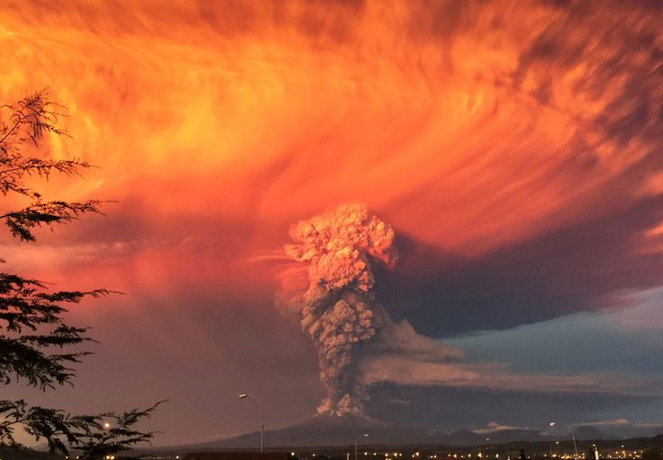Puerto Montt, Chile Smoke and ash rise from the Calbuco volcano on Wednesday, April 22 // Best pictures of the week: April 24, 2015