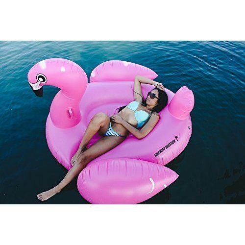 Swimming Pool Floating Giant Inflatable Flamingo Float Raft Huge Kids Adults NEW #SwimmingPool